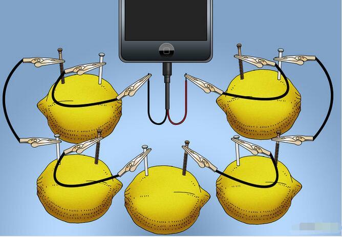 如何自制水果电池给iPhone手机充电4